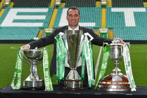 Brendan Rodgers treble Celtic