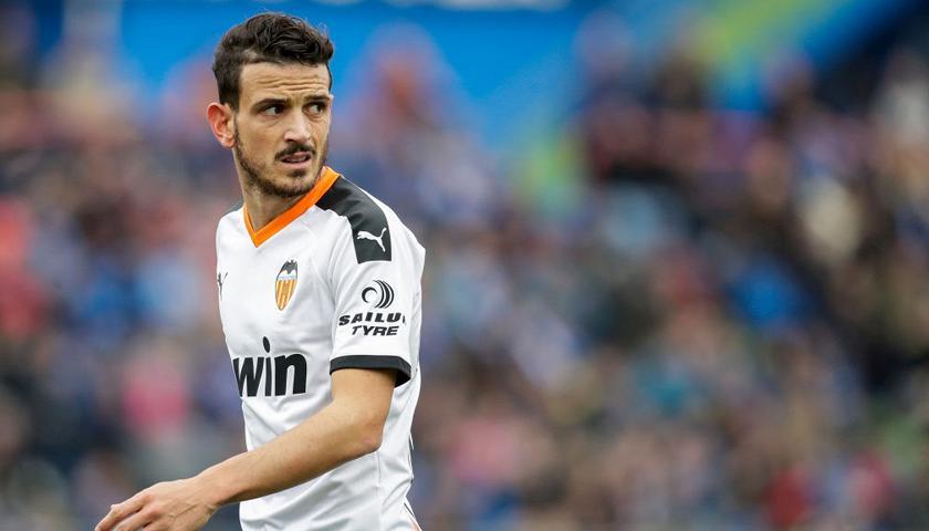 Florenzi con la maglia del Valencia