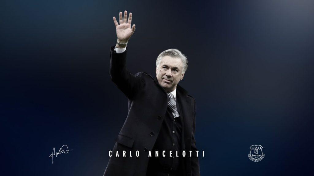 Carlo Ancelotti è arrivato all'Everton nello scorso dicembre