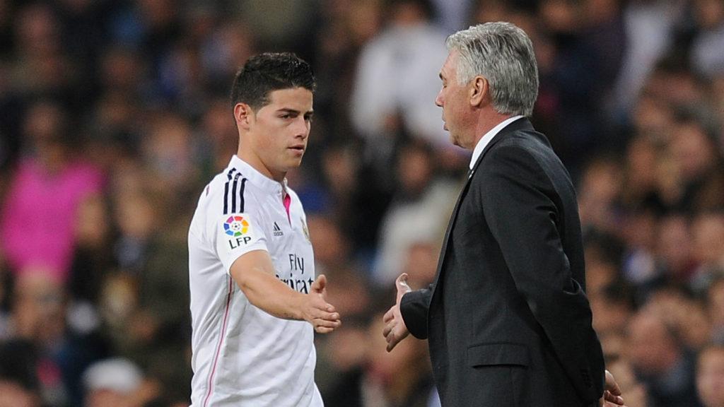 Ancelotti e James Rodriguez ai tempi del Real Madrid