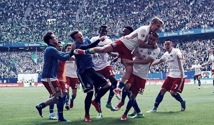 Gol di Waldschmidt con l'Amburgo