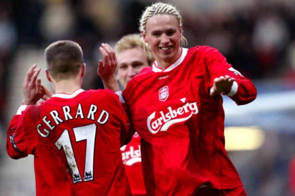 Anthony Le Tallec Steven Gerrard Liverpool