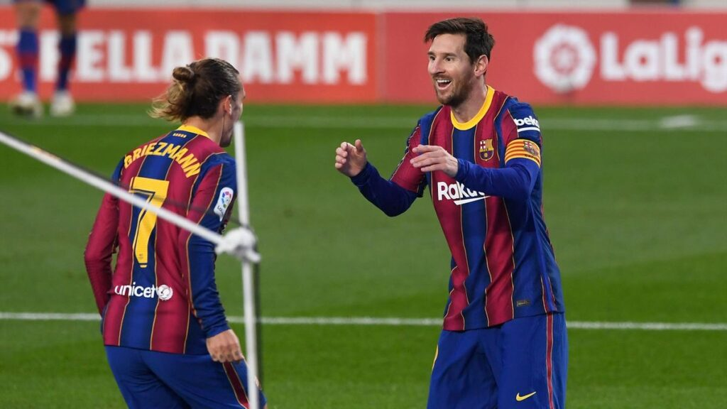 velo Messi goal Betis Griezmann